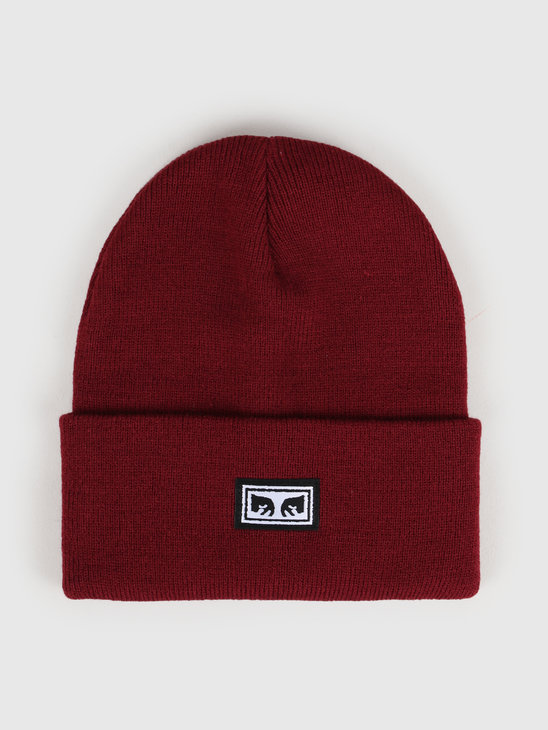 Obey Icon Eyes Beanie Fig Red 100030132-FID