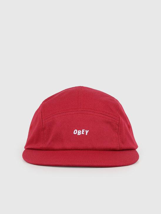 Obey Jumbled 5 Panel Hat Brick Red 100490057-BRD