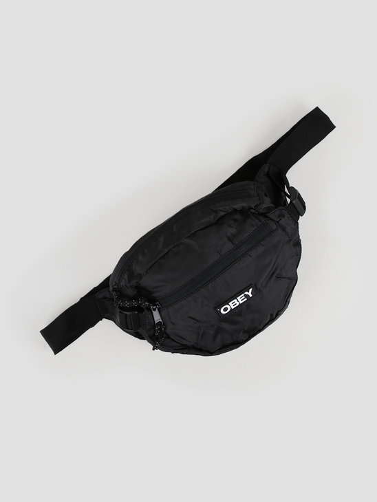 Obey Commuter Waist Bag Black 100010126-BLK