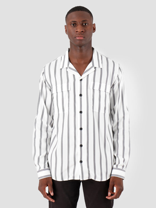Libertine Libertine Cave Pocket Dress Shirt Navy Stripe 1725
