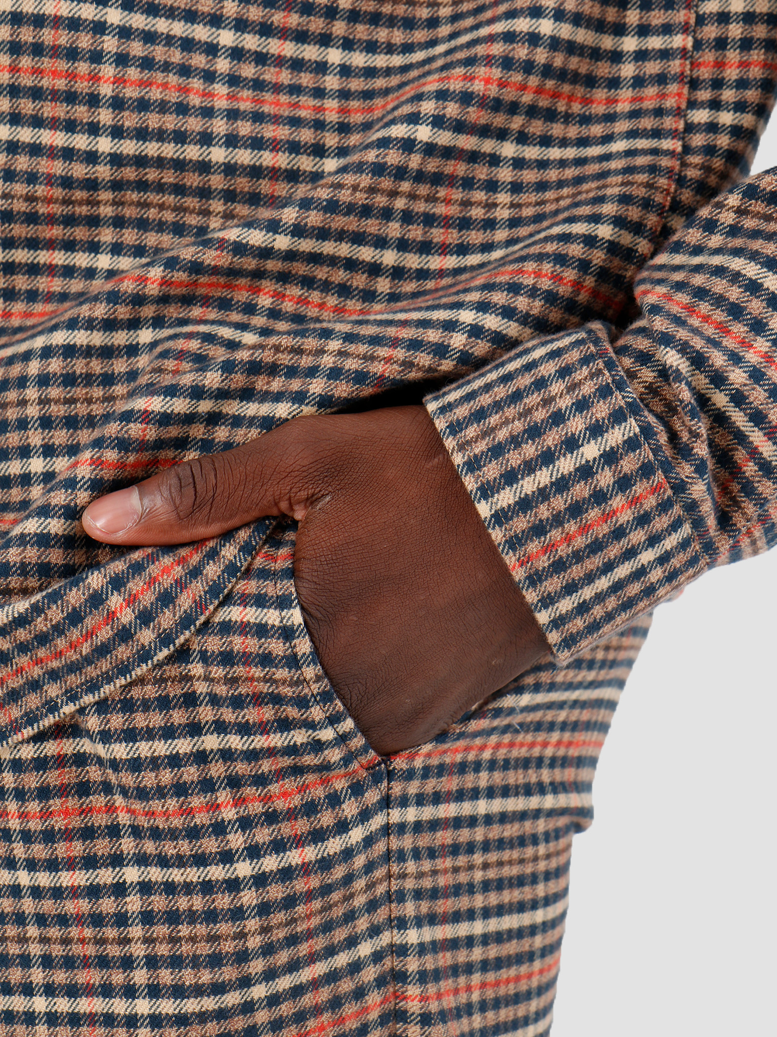 Libertine Libertine Libertine Libertine Plant Trousers Twill Red Check 1714
