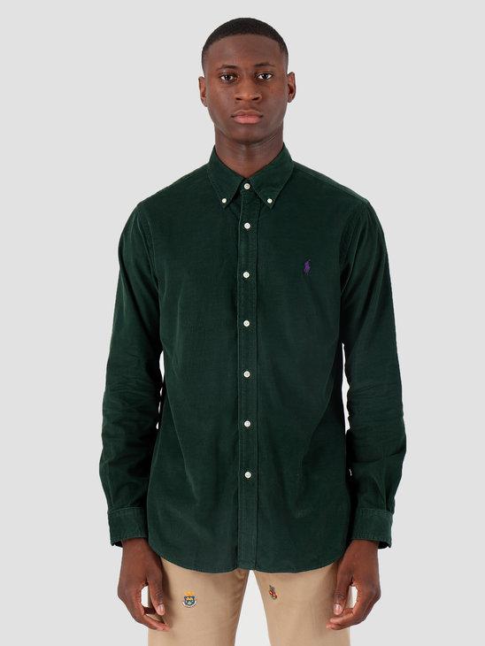 Polo Ralph Lauren 21 Wale Corduroy Sport Shirt Longsleeve Green 710767118002