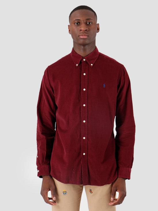 Polo Ralph Lauren 21 Wale Corduroy Sport Shirt Longsleeve Red 710767118001