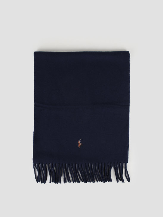 Polo Ralph Lauren Sign It Wool Oblong Scarf Hunter Navy 449727530007