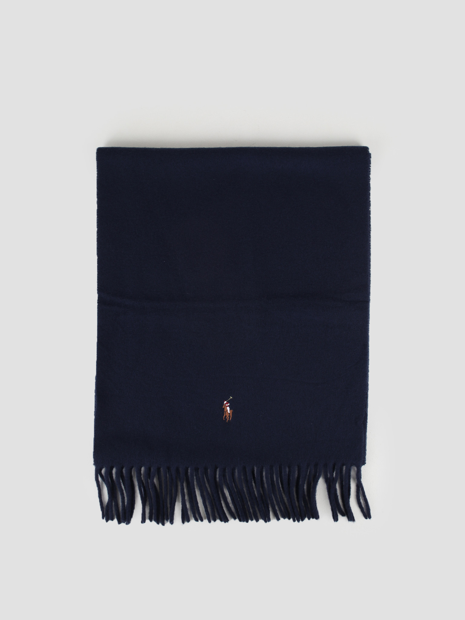 Polo Ralph Lauren Polo Ralph Lauren Sign It Wool Oblong Scarf Hunter Navy 449727530007