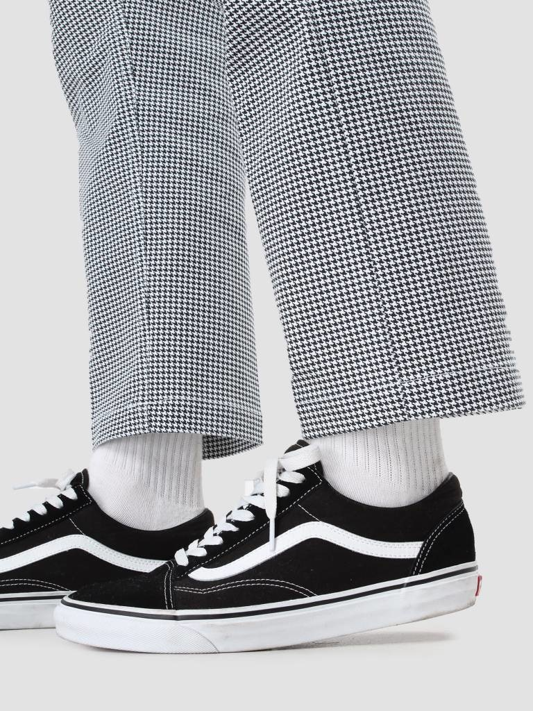 Obey Obey Straggler Houndstooth Pant White multi 142020114-WTM