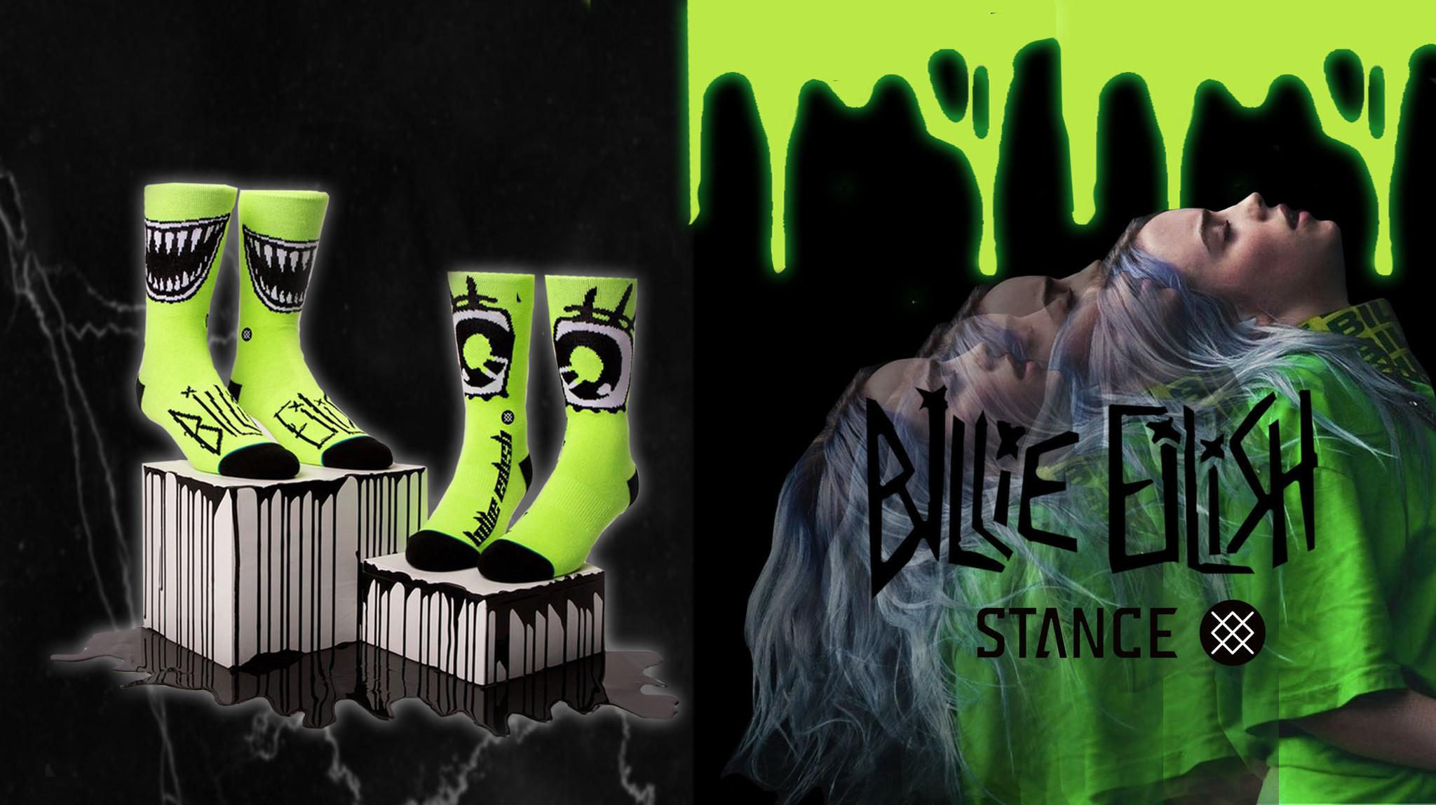 Billie Eilish x Stance collab