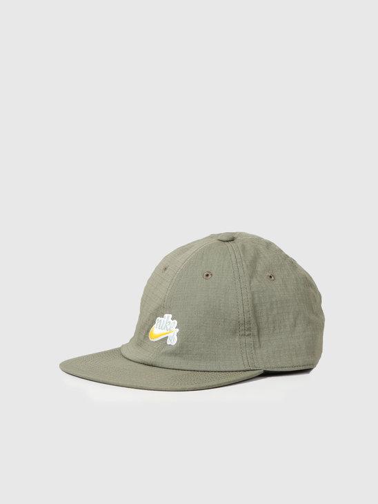 Nike SB Heritage86 Cap Medium Olive Dark Sulfur Av7884-222