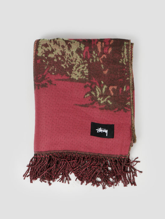 Stussy Double Faced Palm Tree Blanket Multi 138660