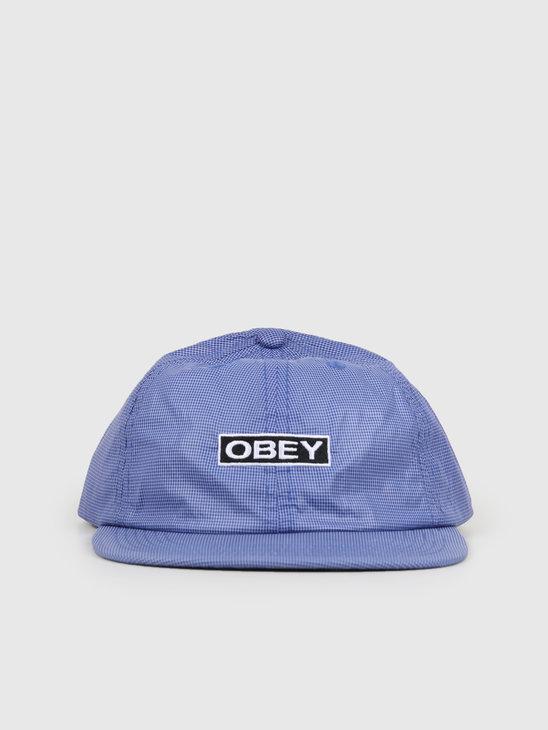 Obey Nore 6 Panel Strapback Ultramarine 100580209-UMR