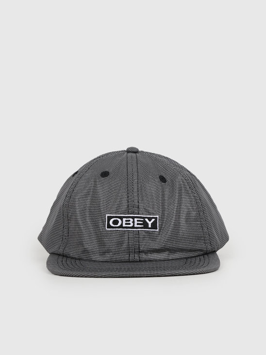 Obey Nore 6 Panel Strapback Black 100580209-BLK