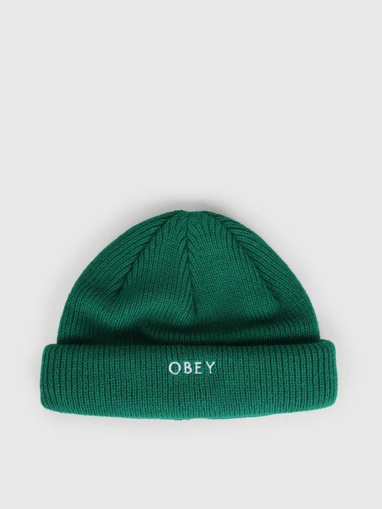 Obey Rollup Beanie Green Lake 100030146-GRN