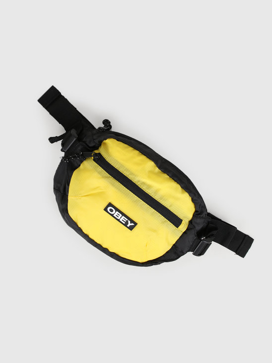 Obey Commuter Waist Bag Black Multi 100010126-BKM