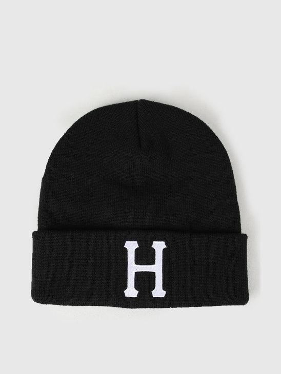 HUF Classic H Beanie Black BN00074-BLACK