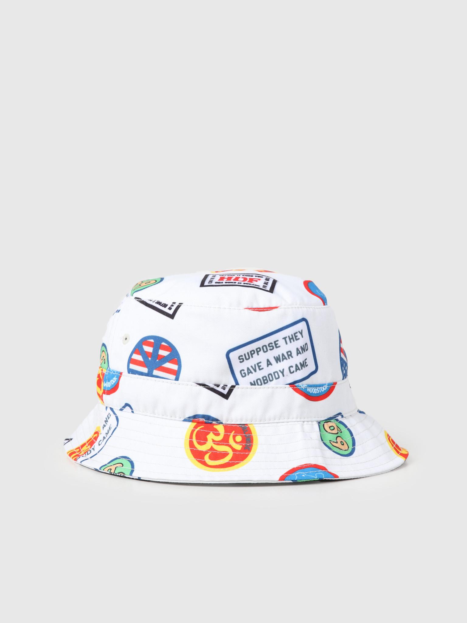 HUF HUF Woodstock Bucket Hat Natural HT00429