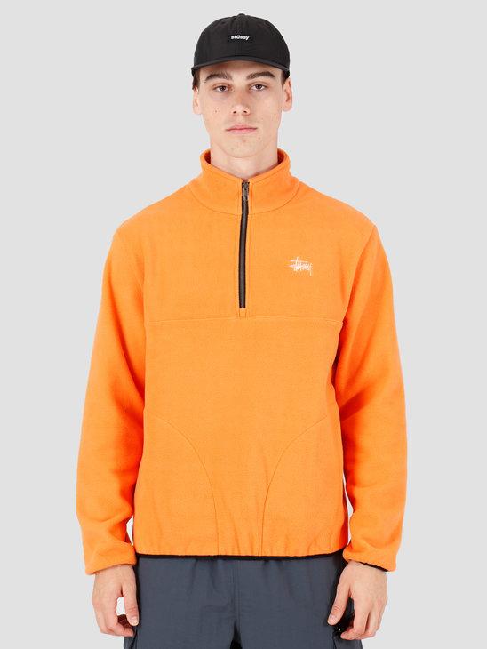 Stussy Basic Polar Fleece Mock Orange 118333