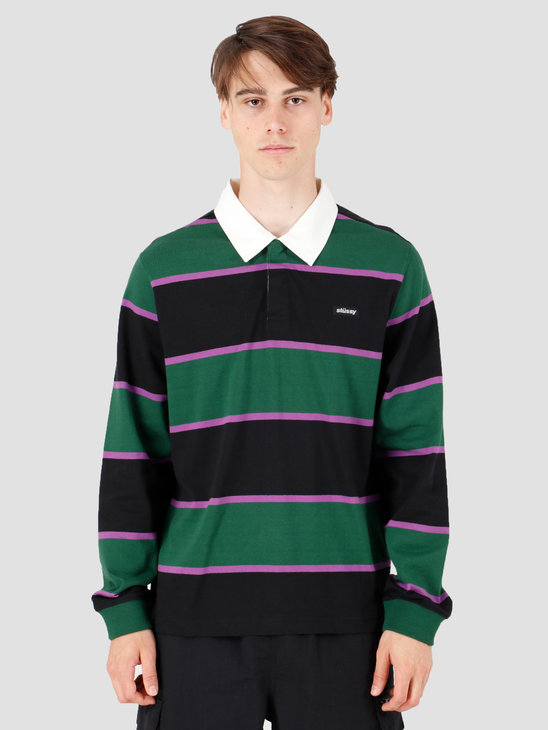 Stussy Blake Longsleeve Rugby Forest 1140152