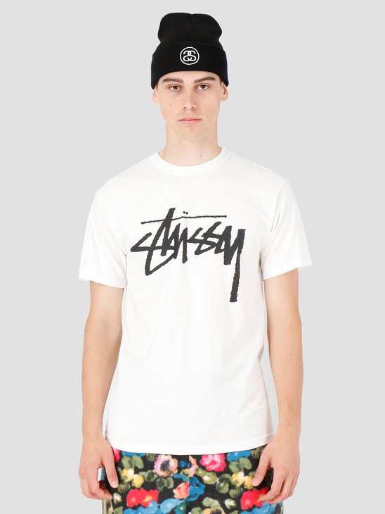 Stussy Stock Pig. Dyed T-Shirt Natural 1904442