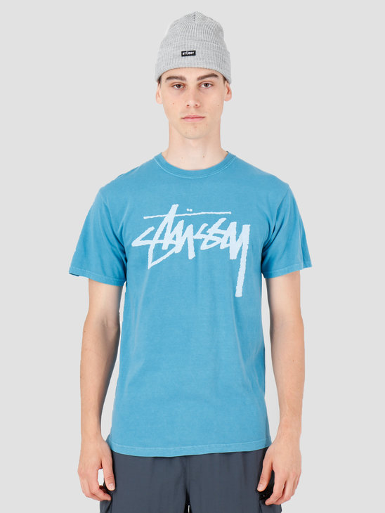 Stussy Stock Pig. Dyed T-Shirt Blue 1904442