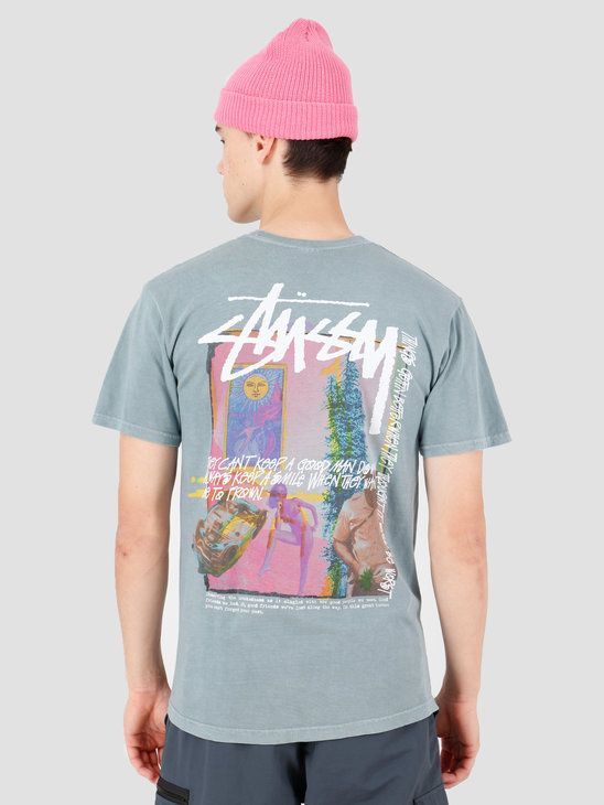 Stussy Daydream Pig. Dyed T-Shirt Slate 1904438