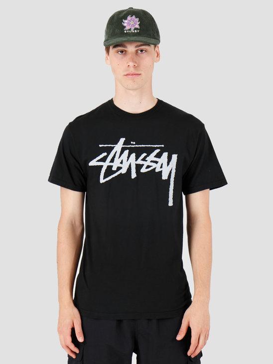 Stussy Stock Pig. Dyed T-Shirt Black 1904442