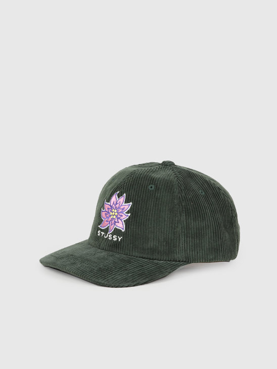 Stussy Laguna Flower Low Pro Cap Green 131902