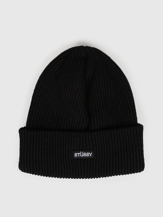 Stussy Small Patch Watch Cap Beanie Black 132936
