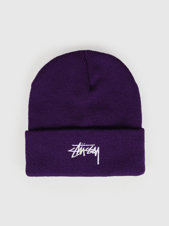 Stussy Fa19 Stock Cuff Beanie Purple 132935