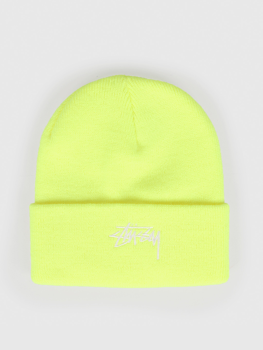 Stussy Stussy Fa19 Stock Cuff Beanie Safety Yellow 132935