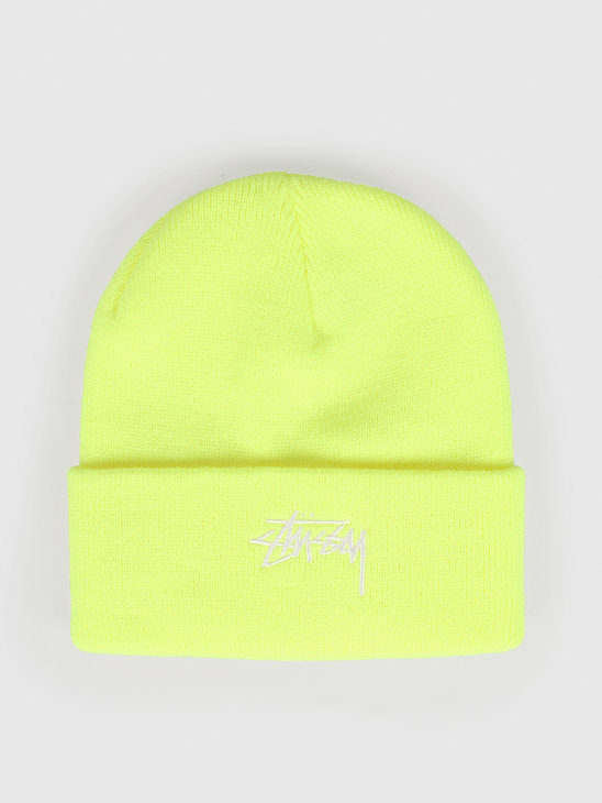 Stussy Fa19 Stock Cuff Beanie Safety Yellow 132935
