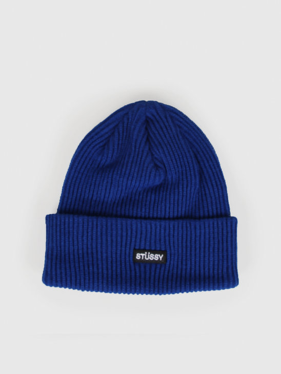 Stussy Small Patch Watch Cap Beanie Blue 132936