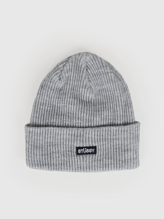 Stussy Small Patch Watch Cap Beanie Grey Heather 132936