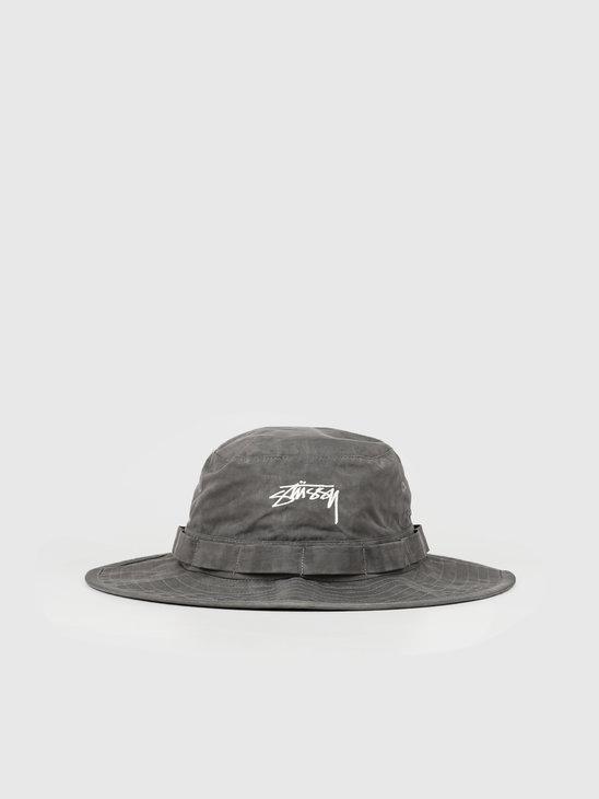 Stussy Washed Nylon Boonie Hat Black 132947