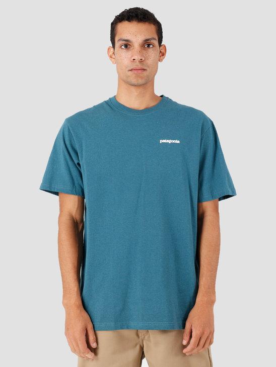 Patagonia P 6 Logo Responsibili T-Shirt Tasmanian Teal 39174