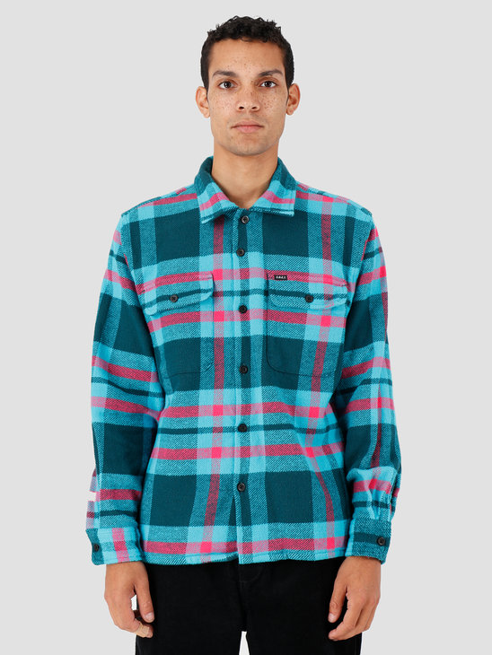 Obey Fitzgerald Woven Deep Teal Multi 181200268-DPT