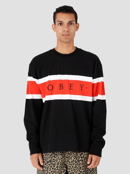 Obey Embrace Classic Tee Ls Black Multi 131030090-BKM