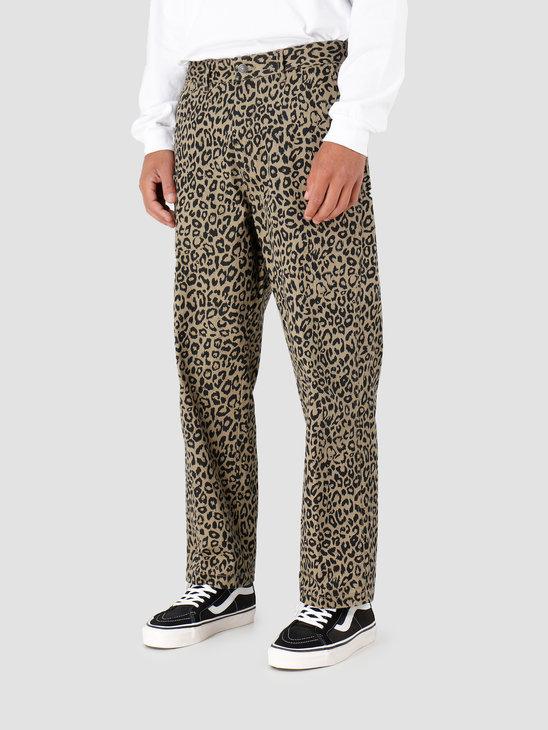 Obey Hardwork Carpenter Pant Ii Khaki Leopard 142020131-LEO