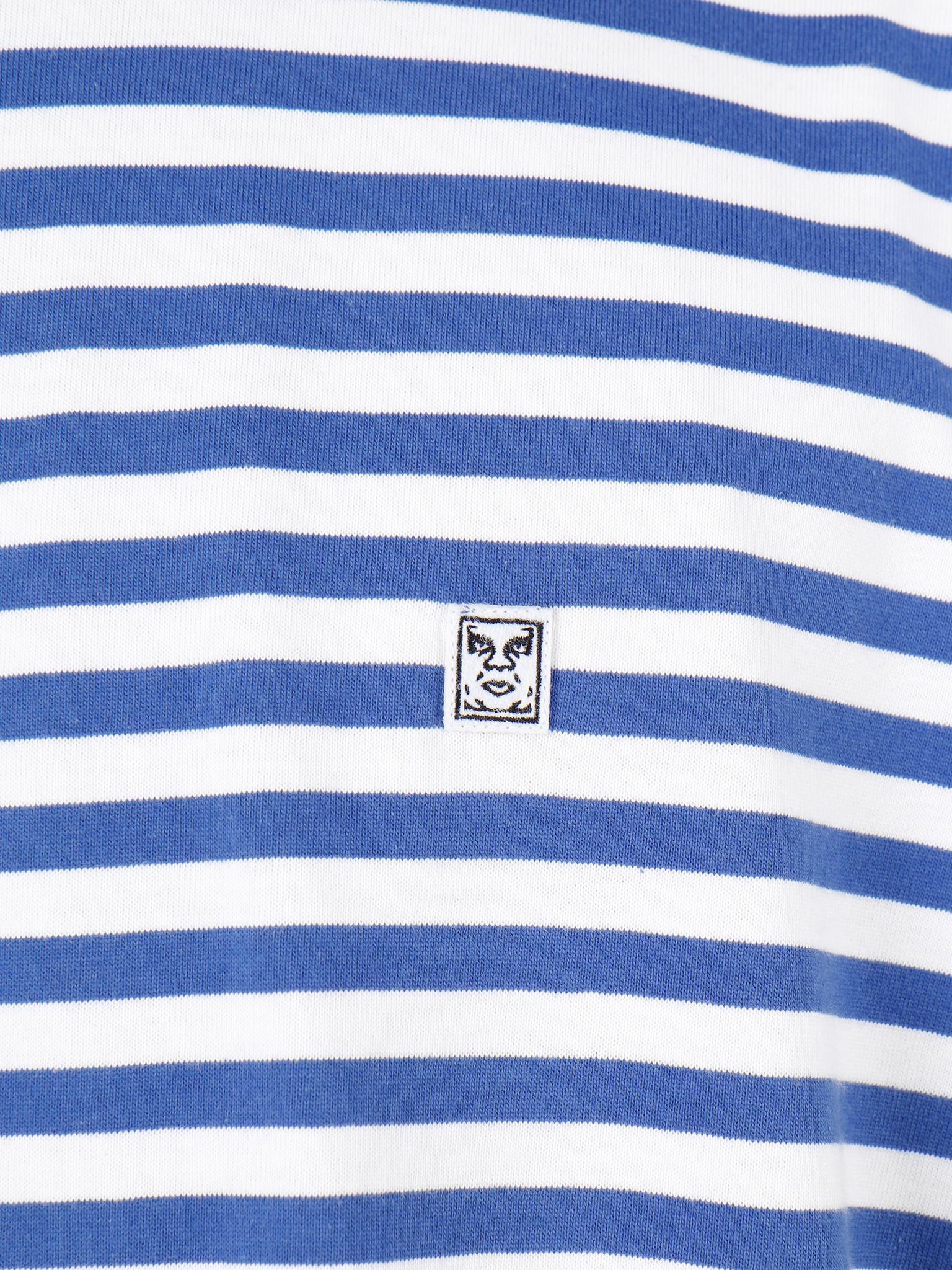 Obey Obey 89 Icon Stripe Box Tee II Shortsleeve Blue Multi 131080242-BMU