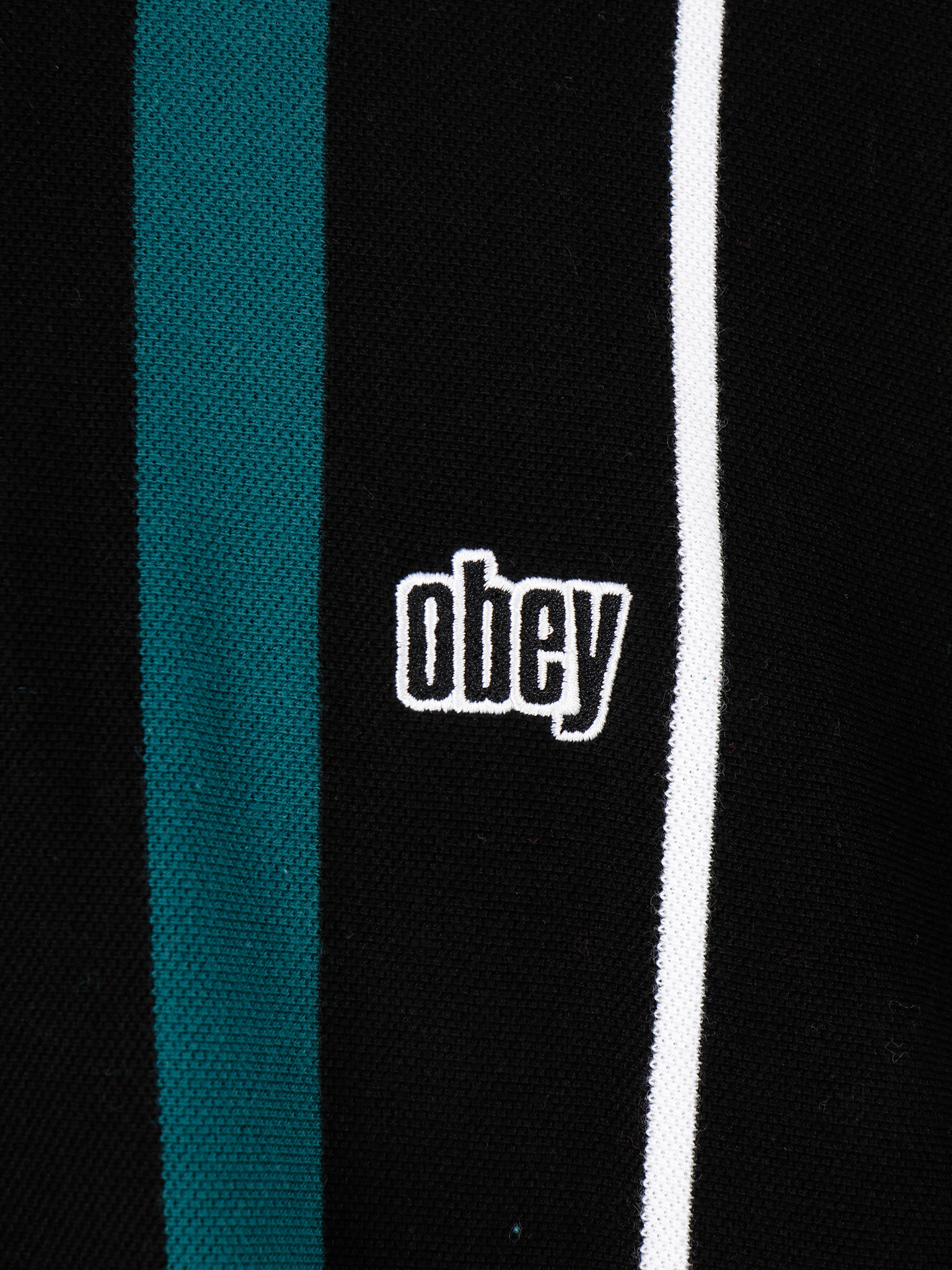 Obey Obey Chunk Classic Polo Shortsleeve Black Multi 131080253-BKM