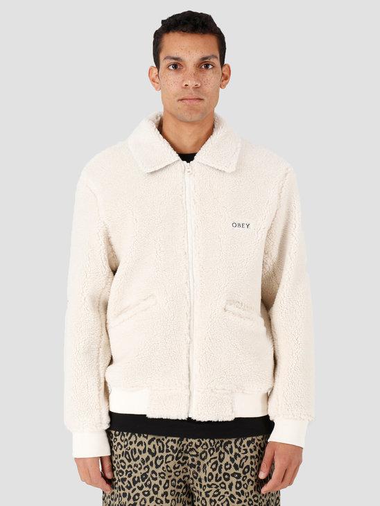 Obey Caboose Sherpa Jacket Natural 121800396-NAT