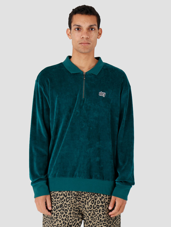 Obey Buster Classic Polo Ls Pine 131040024-PNE