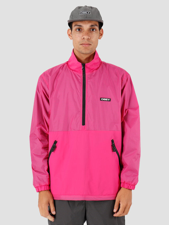 Obey Nore Pop Over Anorak Fuchsia 121800379-FUS