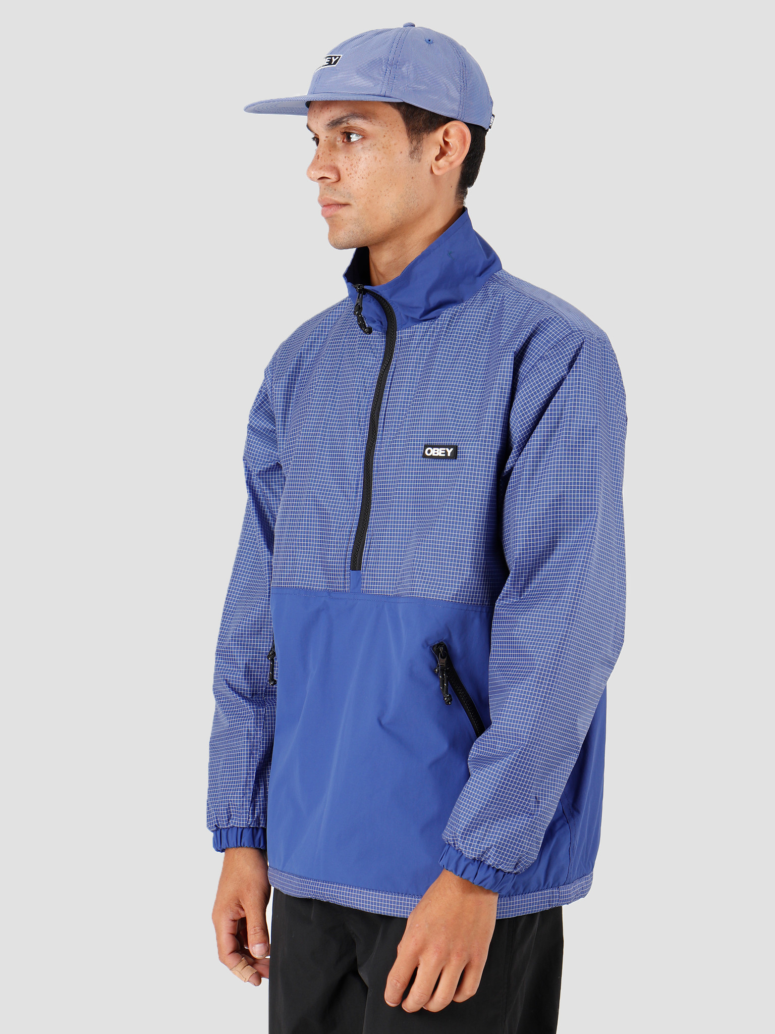 Obey Obey Nore Pop Over Anorak Ultramarine 121800379-UMR