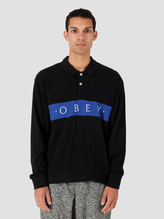 Obey Bishops Classic Polo Longsleeve Black Multi 131040020-BKM