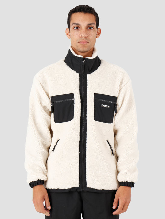 Obey Out There Sherpa Jacket Natural 121800383-NAT