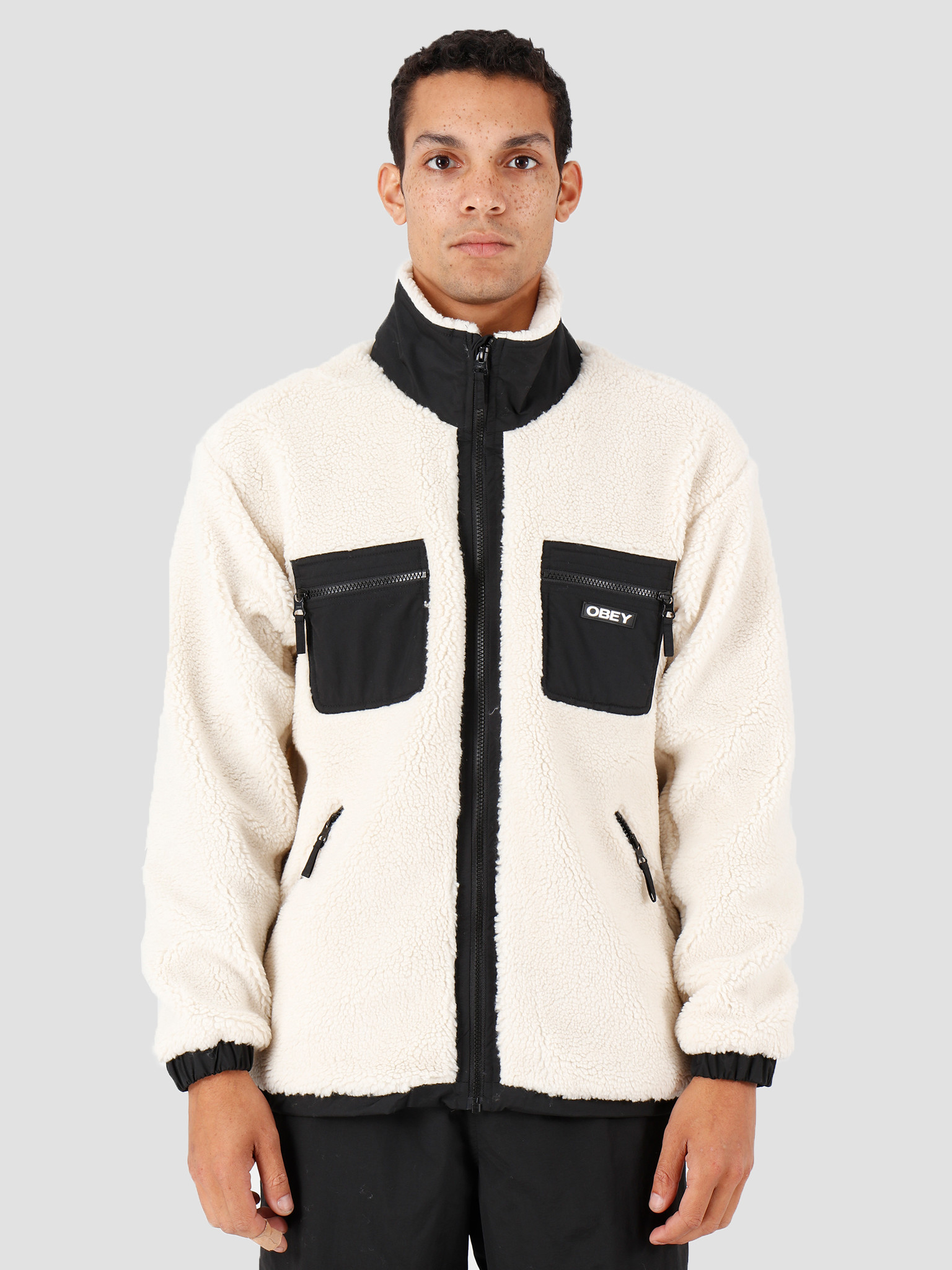 Obey Obey Out There Sherpa Jacket Natural 121800383-NAT