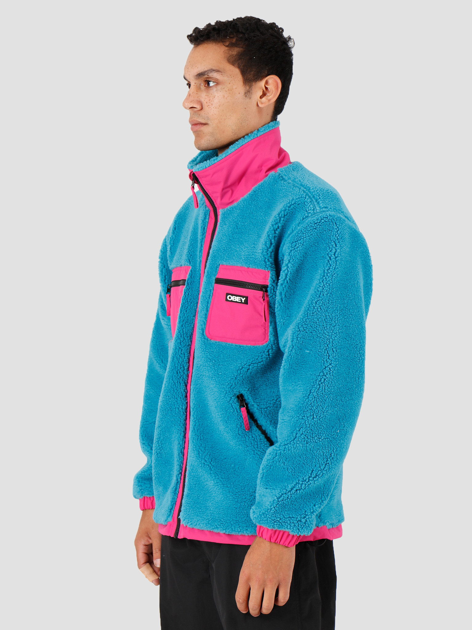 Obey Obey Out There Sherpa Jacket Pure Teal 121800383-PTL