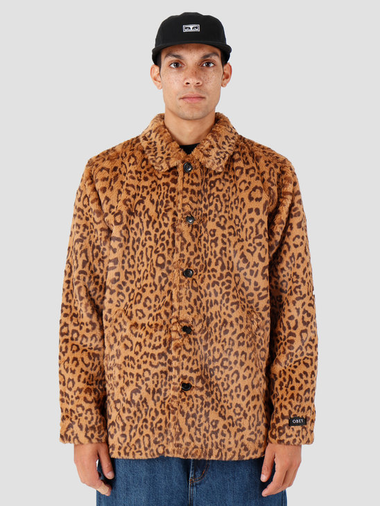 Obey Vacant Jacket Leopard 121800395-LEO