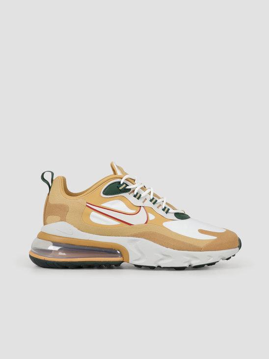 Nike Air Max 270 React Reggae Club Gold Light Bone-F LT Gold-Wheat Ao4971-700