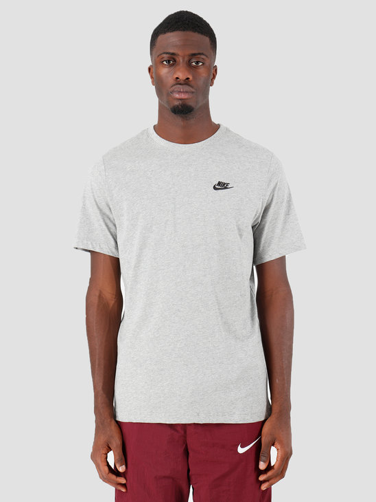 Nike NSW Club T-Shirt Dk Grey Heather Black AR4997-064